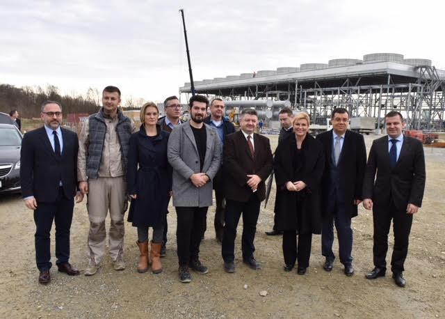 Predsjednica RH - gradilište geotermalne elektrane u Velikoj Cigleni