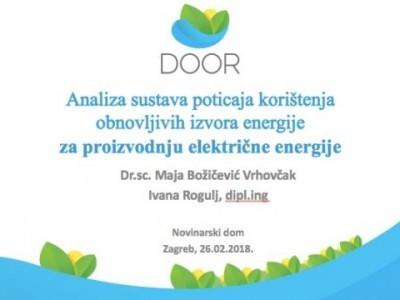 Analiza sustava poticaja u sektoru proizvodnje električne energije