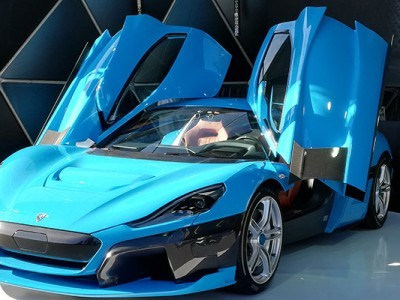 The new prototype of hypercar C_Two tested at Rimac Automobile